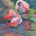 African Pink Flamingos by Diane McClary