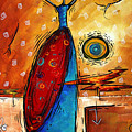 African Queen Original Madart Painting by Megan Duncanson