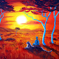 African Sunset Meditation by Laura Iverson