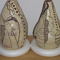 African Terracotta Gourds - View Three by Gloria Ssali