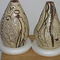 African Terracotta Gourds - View Two by Gloria Ssali