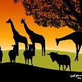African Veldt At Sunset by Mickey Wright