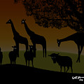 African Veldt At Twilight by Mickey Wright