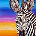 African Zebra Aura by Donna Proctor