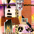 Afro Collage - E by Everett Spruill