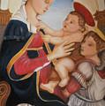 after Botticelli Madonna con il Bambino e un Angelo by M S