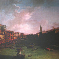 After Canal Grande Looking Northeast by Hyper - Canaletto
