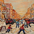 After School Hockey Game by Carole Spandau