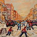 After School Hockey Game by Carole Spandau