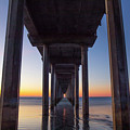 After Sunset At Scripps Pier by Michael Sangiolo