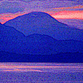 After Sunset Mountains 5 Pd by Lyle Crump
