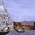 After The Grand Canal And The Church Of The Salute by Hyper - Canaletto