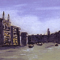 After The Grand Canal From Campo San Vio Near The Rialto Bridge by Hyper - Canaletto