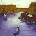 After The Grand Canal From The Rialto Bridge by Hyper - Canaletto