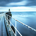 After The Shower Over Whitby Pier by Richard Burdon