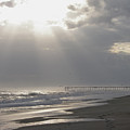After The Storm - Frisco Pier - Outer Banks Nc by Mother Nature