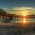 After The Storm Tybee Island Pier Sunrise Art by Reid Callaway