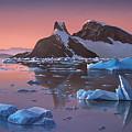 Afterglow Lemarie Channel Antarctica by Cliff Wassmann