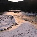 Afterglow On The Pemigewassett by Bill Driscoll
