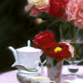 Afternnon Tea With Peonies by Stephen Lucas