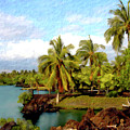 Afternoon At Mauna Lani Hawaii by Kurt Van Wagner