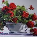 Afternoon Geraniums by Sandra Strohschein