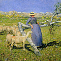 Afternoon In The Alps by Giovanni Segantini