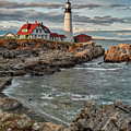 Afternoon Light At Cape Neddick by Jon Glaser