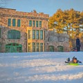 Afternoon Sledding At Borderland by Bill McEntee