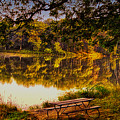Afternoon View Argyle Lake Illinois by Thomas Woolworth