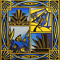 Art Deco In Blue by Emma Childs
