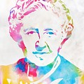 Agatha Christie Watercolor Tribute by Dan Sproul