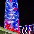 Agbar Tower In Barcelona by Marc Garrido