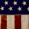 Aged Rustic American Flag by Heather Joyce Morrill