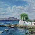 Agios Ioannis Beach, Mykonos Greece by Helen Ramsay