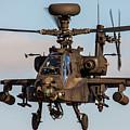 Ah64 Apache Flying by Ken Brannen