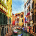 Ahh Venezia Painterly by Lois Bryan