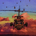 Air Cavalry Bell Uh-1 Huey  by Tommy Anderson