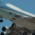 Air Force One Final Approach Into Charleston Sc by Dale Powell