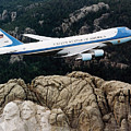 Air Force One Flying Over Mount Rushmore by War Is Hell Store