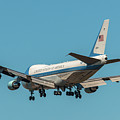 Air Force One On Final Approach Into Charleston South Carolina by Dale Powell