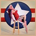 Air Force Pinup With Calypso Jean by Stephen Cruz