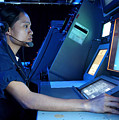 Air Traffic Controller Monitors Marine by Stocktrek Images