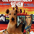 Airedale Terrier Art Canvas Print - The Magnificent Seven Movie Poster by Sandra Sij