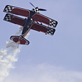 Airplane Performing Stunts At Airshow Photo Poster Print by Keith Webber Jr
