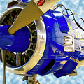 Airplane Propeller And Engine T28 Trojan 02 by Thomas Woolworth