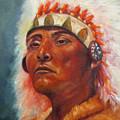 Akecheta, Native American by Sandra Reeves