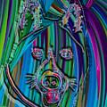 Akita Abstract Dog by Dalon Ryan