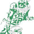 Al Horford Boston Celtics Pixel Art 5 by Joe Hamilton