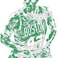 Al Horford Boston Celtics Pixel Art 6 by Joe Hamilton